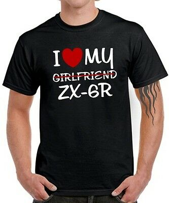 Ninja T (T-SHIRT I LOVE MY Girlfriend ZX-6R * SATIRE Kawasaki * Ninja Biker Tuning ZX6R)