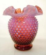 Cranberry Opalescent Glass