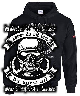 Sweatshirt Taucher DU HÖRST NICHT AUF ZU TAUCHEN WENN DU ALT BIST Fun Spruch Alter Sweatshirt