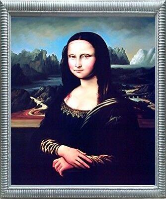 Leonardo Da Vinci Mona Lisa Reproduction Wall Decor Silver Framed Picture - Mona Lisa Framed