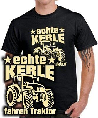 T-Shirt Bauer Landwirt ECHTE KERLE FAHREN TRAKTOR Spruch lustig Trekker Geschenk