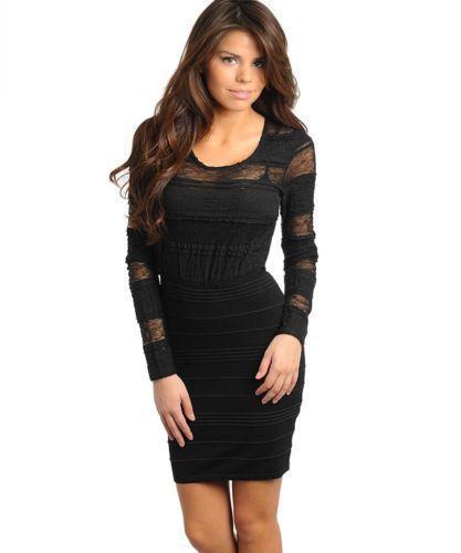 Juniors Black Long Sleeve Dress | eBay