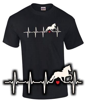 Kurzarm-shirt Reiten (Pferd T-Shirt Herzschlag i love my horse Reiter Reiterin Funshirt Reiten)