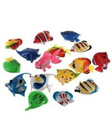 DAYAN Pack of 10 - Colourful Assorted Artificial Plastic Bubble Lamp Aquarium Tropical Fish