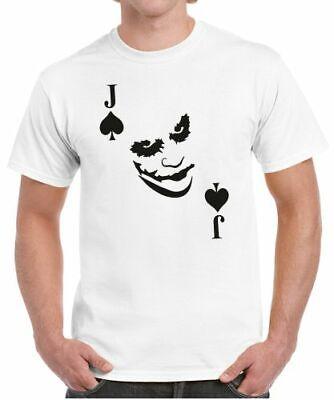 Herren T-Shirt Kartenspiel Kostüm PIK JOKER AS KÖNIG - Herren Joker Kostüme Tshirt