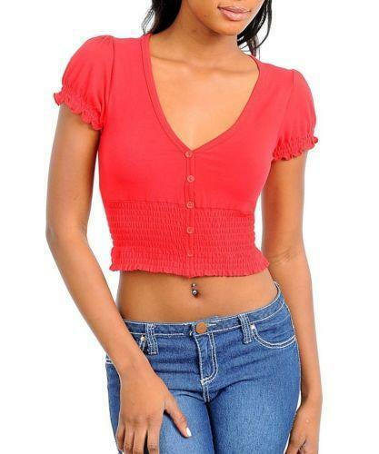 Product Features Style--casaul tops for women,cold shoulder t shirt,short sleeve top.