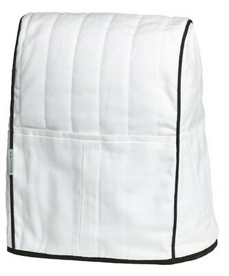 Cover Fits All Stand Mixers (New KMCC1WH KitchenAid Cloth Cover Fits All Artisan&Lift Stand Mixers White )