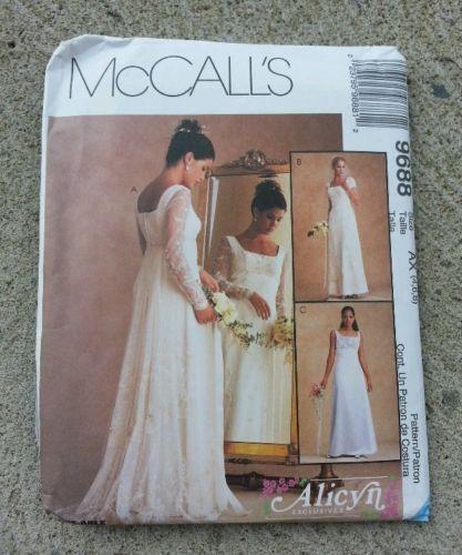 McCalls Wedding Dress Pattern EBay