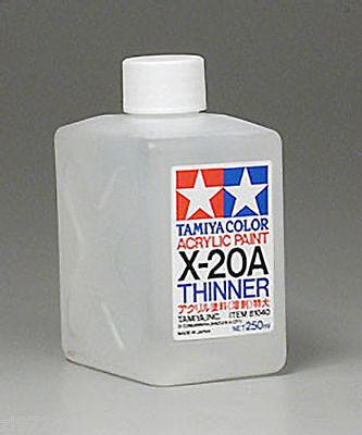 - Tamiya THINNER Acrylic Hobby Model Paint Acrylic X20A Thinner 250ml 81040