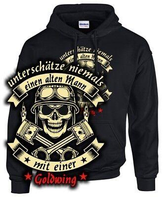 GOLDWING Tuning Biker Sweatshirt Motorrad ALTER MANN MIT 1200 1500 1800 Zubehör Alter Sweatshirt
