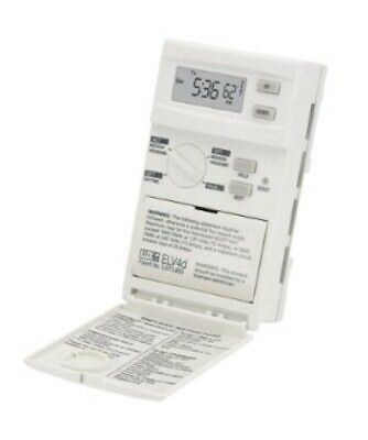 ELV4 Lux Products Line Voltage Programmable Thermostat, Single or Double Pole