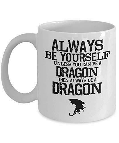 PixiDoodle Be Yourself Unless You Can Be A Dragon - Cool Dragon Coffee Mug (11 o