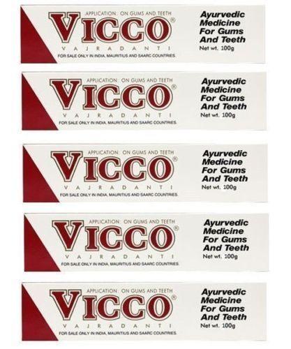 Vicco Vajradanti Herbal Tooth Paste 200g X 6 Pack -- For ...