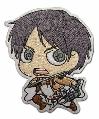 Patch   Attack On Titan   New Sd Eren Iron On Toys Anime Licensed Ge44791 Sealed