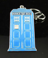 Dr. Who 11th Doctor Tardis Police Box Keychain Pendant Ring