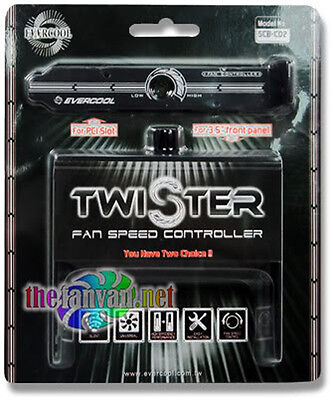 """Evercool SCB-CD2 Twister Fan Speed Controller PCI Slot or 3.5"""" Front Panel"""