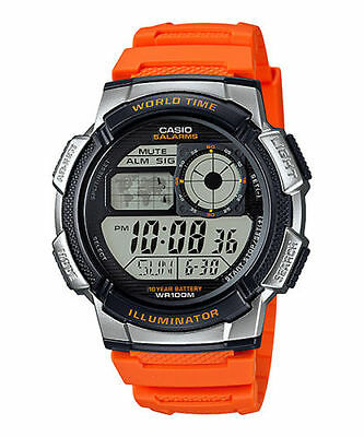 Casio AE1000W-4BV, Chronograph Watch, 5 Alarms, 10 Year Battery, 100 Meter WR