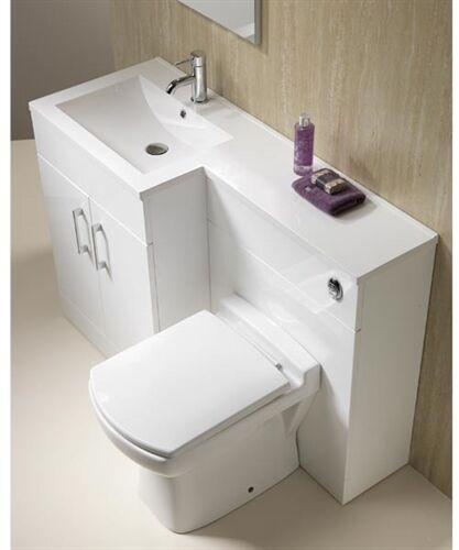 Genesis Monica 120, 1-Piece Basin & WC Top Combination