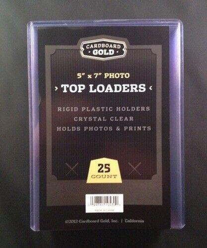 100 5x7 Ultra CBG Premium Pro Hard Rigid Toploaders Photo Topload Holders - New