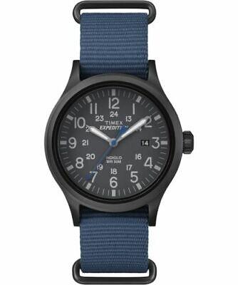 New Timex Men's Expedition Scout TW4B04800 Blue Nylon Analog Quartz Dress Watch