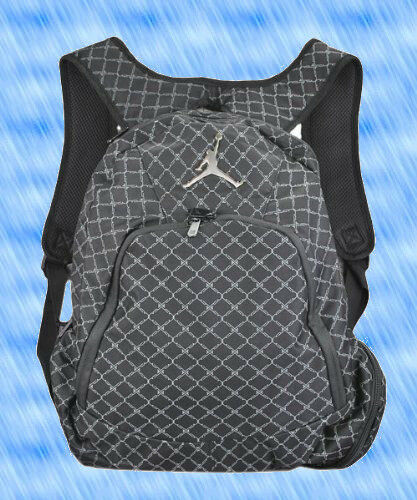 a0ca870d5322ba Nike Air Jordan Jumpman 23 Backpack Black Grey Silver 9A1115 023 Laptop