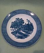 Currier Ives Salad Plate