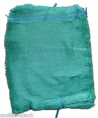 1500 Green Net Sacks 55cm x 80cm / 30Kg Mesh Bags Kindling Logs Potatoes Onions