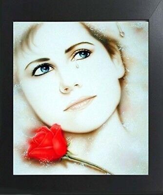 Teardrop Lady Inamorata Remembered Lost Vogue Wall Decor Art Print Framed Spit