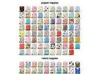 20 Reusable / washable nappies+ 20 inserts