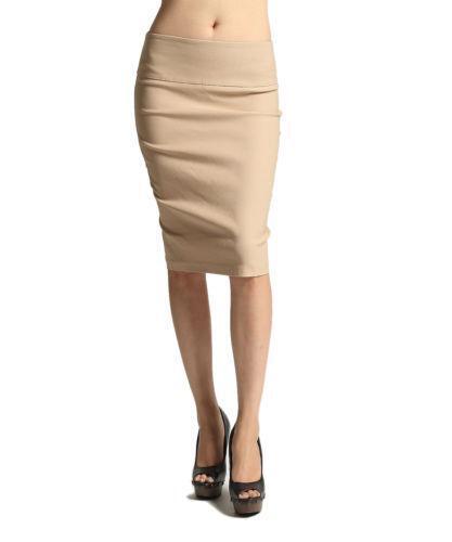 high waisted khaki skirt ebay