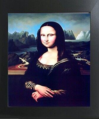 Leonardo Da Vinci Mona Lisa Reproduction Wall Decor Contemporary Framed - Mona Lisa Framed