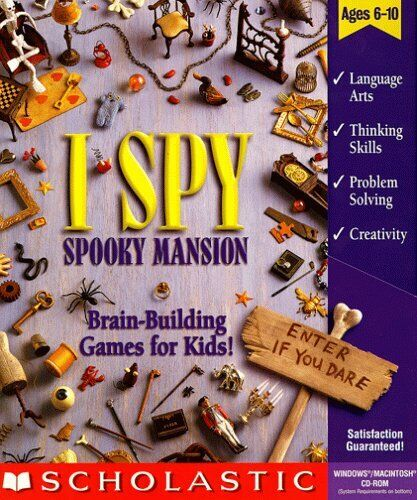 Computer Games - I Spy Spooky Mansion - Puzzle Hidden Object Windows Mac PC CD-ROM Computer Game