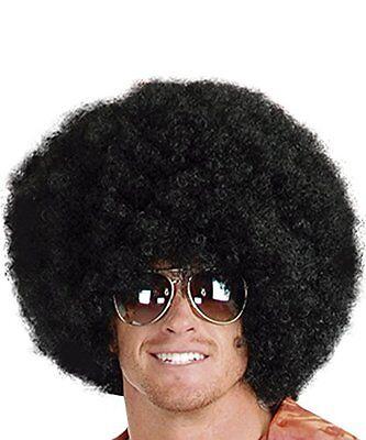 Super Black Afro Costume Wig Big 70s Disco Clown Halloween Fancy Dress Unisex  - Black Afro Halloween Costume