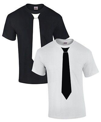 FUN T-SHIRT mit KRAWATTE Anzug Fliege SKA Smoking - T Shirt Mit Anzug