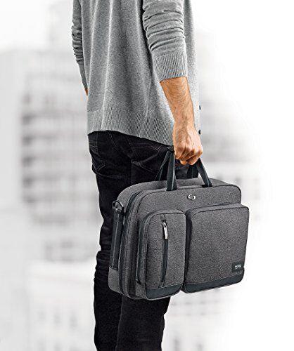 Solo Urban Convertible Laptop Briefcase Backpack Gray UBN310-10
