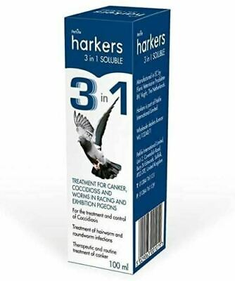 Harkers Pigeon Treatment 3 in 1 Soluble Canker Coccidiosis Worms Prevention