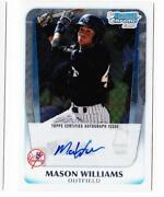 Mason Williams Bowman Chrome Auto