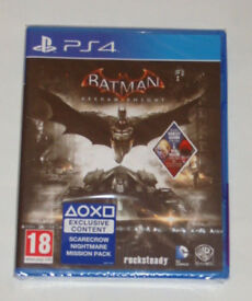 SONY PLAYSTATION PS4 GAME BATMAN ARKHAM KNIGHT SCARECROW NIGHTMARE MISSION PACK*