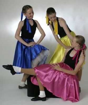 Dance-1950's-Rock and Roll JIVE SKIRT WITH ATTACHED PETTICOAT All Ladies Sizes