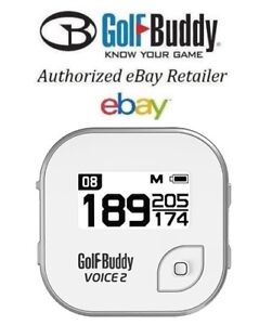NEW GOLF BUDDY VOICE 2 II  WHITE GOLF GPS RANGEFINDER NEW IN BOX FAST TO YOU