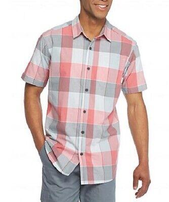 COLUMBIA M, L Men's Thompson Hill™ II Red Plaid Yarn Dyed Shirt NWT $50 Yarn Dyed Plaid Shirt