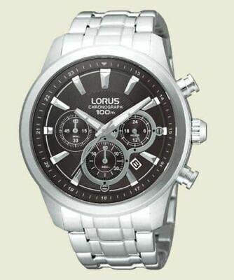 Lorus by Seiko Men's Black Dial Chronograph Bracelet Stop Watch ref: 095597