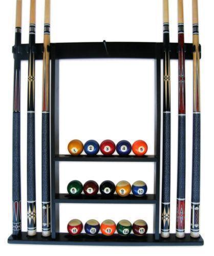 Rack Em Billiard Ball Pool Table Light: Pool Stick Holder: Ball & Cue Racks