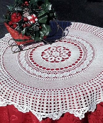 """22"""" Inch Round Cotton Crochet Lace Table Topper Doily Handmade White Home Decor"""