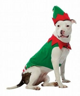 Rasta Imposta Santa's Little Helper Elf Dog Costume Christmas Pet Hat One Piece