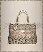 Coach Poppy Heart Signature Glam Tote