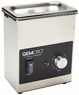 Gemoro 1.5pt Next Gen Stainless Steel Ultrasonic Jewelry Cleaner With Basket