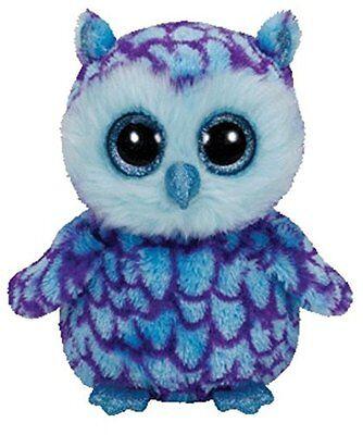 New Oscar The Blue Owl 6  Plush Beanie Boos Toy Doll Ty
