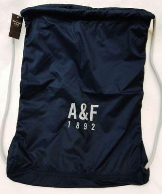ABERCROMBIE & FITCH LIGHT NAVY COLOR Drawstring & NYLON Bag Backpack BRAND NEW