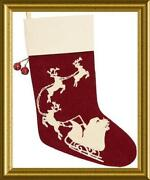 Pottery Barn Crewel Stocking